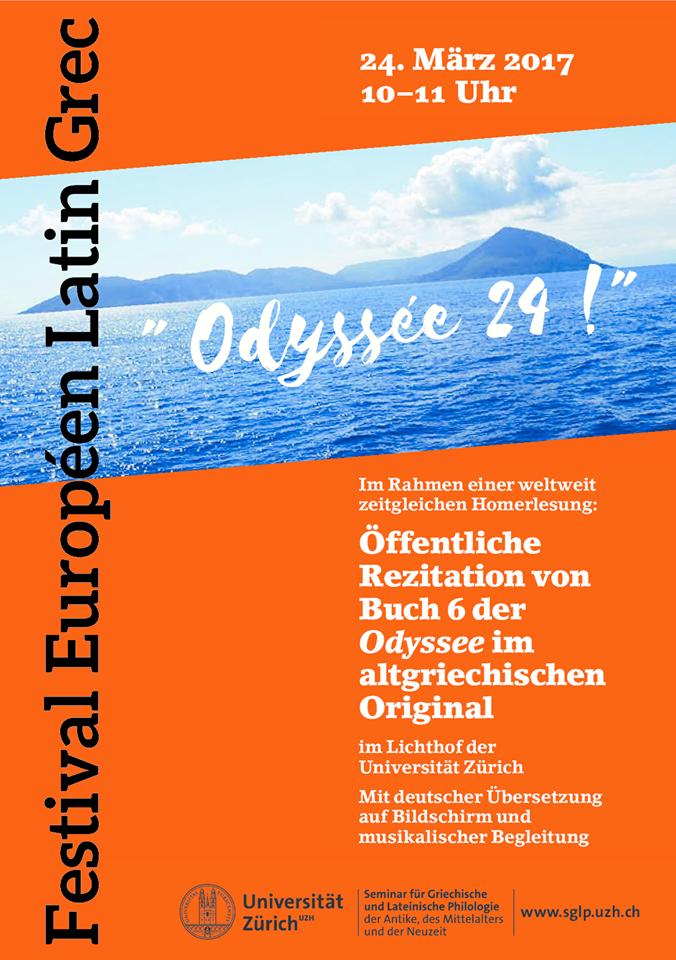 Le Festival Européen Latin Grec à l'affiche ... en Suisse à Zurich !