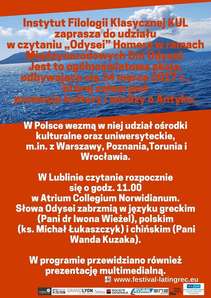 Le Festival Européen Latin Grec à l'affiche ...en Pologne à Lublin !