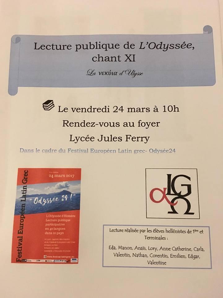 Le Festival Européen Latin Grec au Lycée Jules Ferry de St-Dié-des-Vosges : découvrez l'affiche réalisée par les élèves !