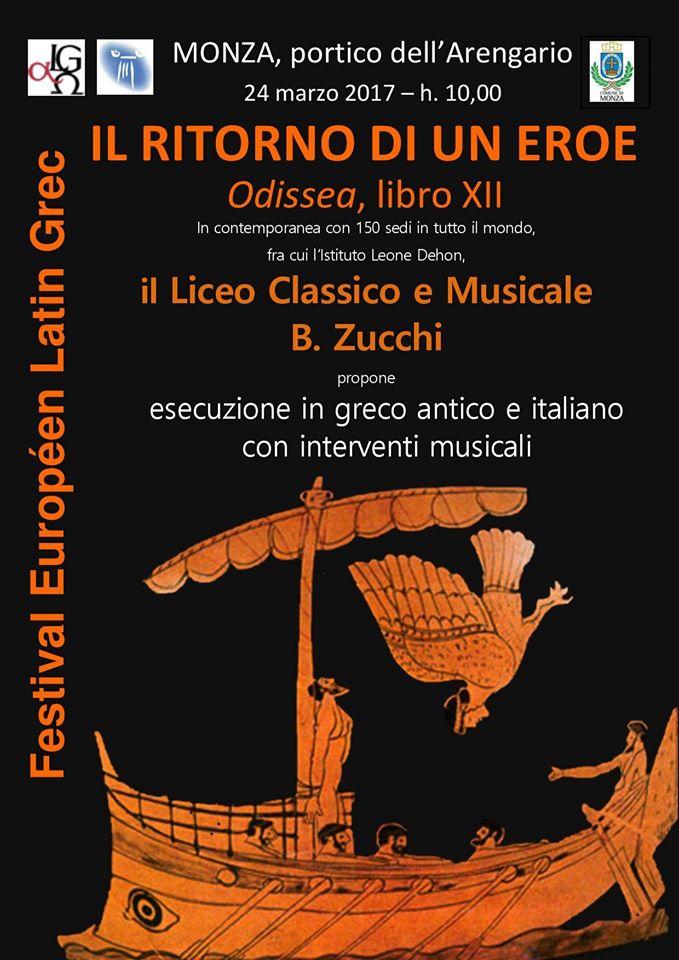 Le Festival Européen Latin Grec à l'affiche ... en Italie à Monza !