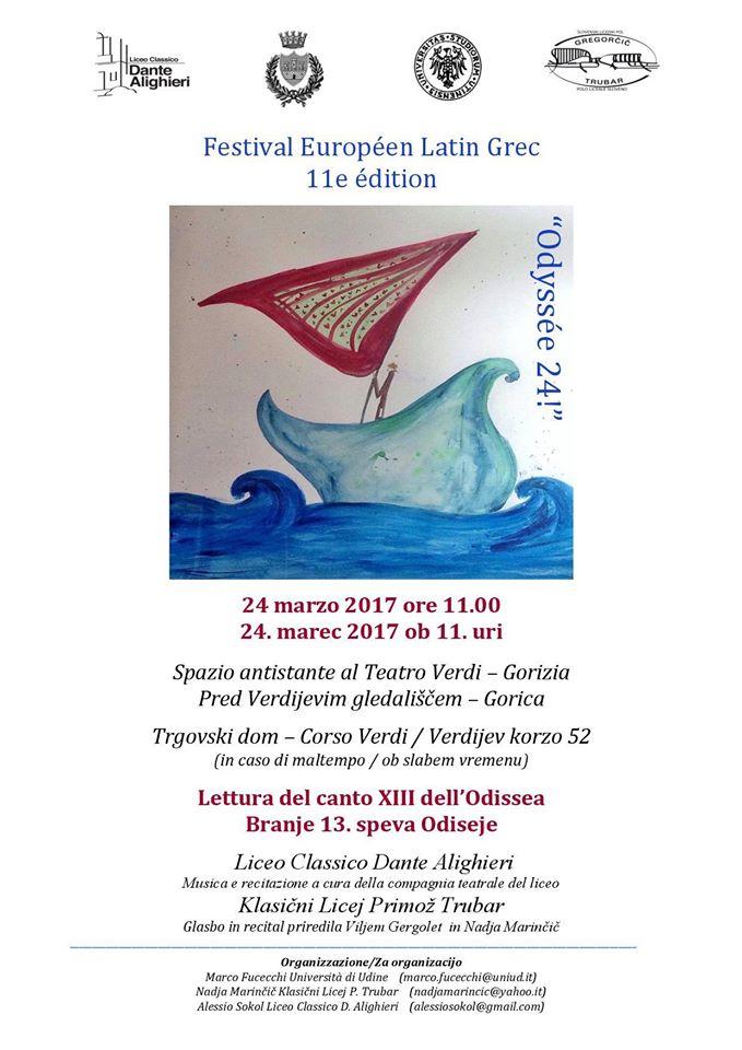 Le Festival Européen Latin Grec à l'affiche... en Italie à Gorizia !
