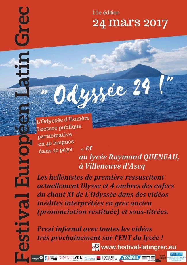 A Villeneuve d'Ascq (Nord), un projet inédit mêlant numérique et lecture en V.O. de L'Odyssée !